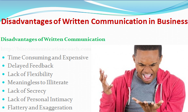 Disadvantages of Written Communication in Business