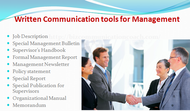 Written Communication tools for Management