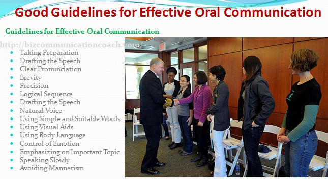 Good Guidelines for Effective Oral Communication