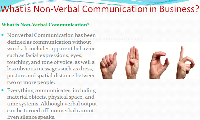 What is Non-Verbal Communication in Business