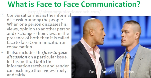 What is Face to Face Communication