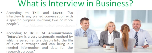 What is Interview in Business