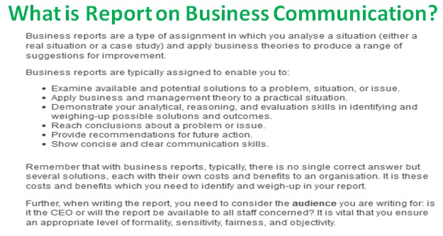 What Is Report On Business Communication