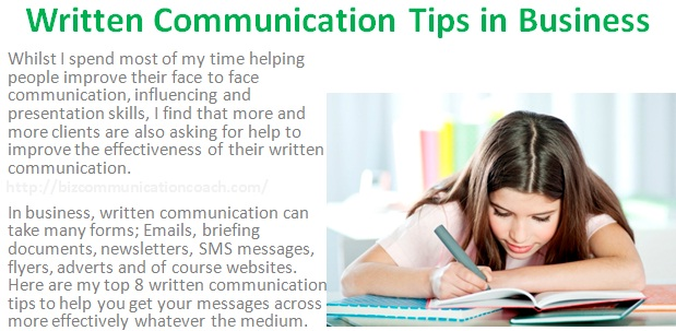 Written Communication Tips