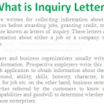 what is inquiry letter letter of inquiry is one of the most important types of business letters when a buyer wishes to get some information about the