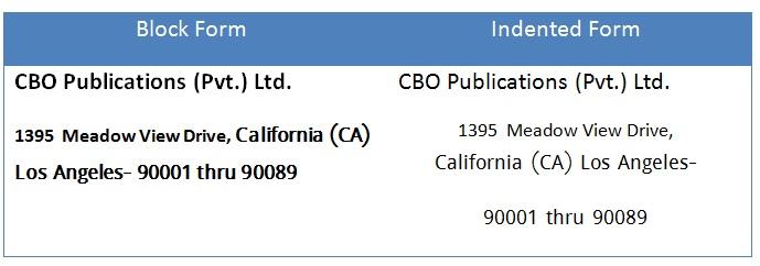 inside address of business letter